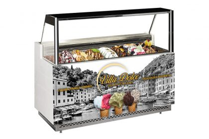 gelato display freezer