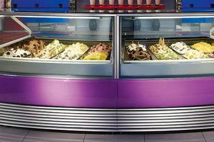gelato display case from a gelato display case company